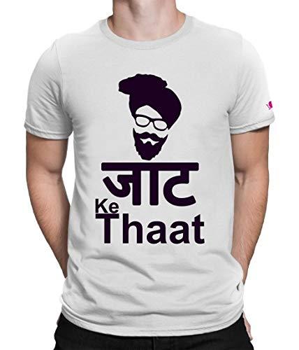 Osiyankart Men New T Shirt O Neck Tee Half Sleeves Regular Fit Jaat Ke Thaat Men's Cotton Printed T-Shirt Large Size