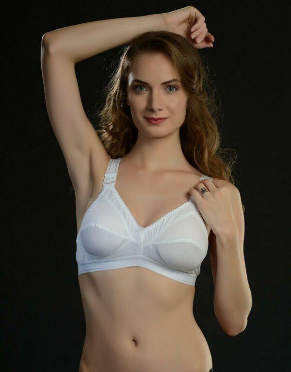 Kareena Women's Cotton Full Coverage Wirefree Unpadded Plus Size Bra Push Up