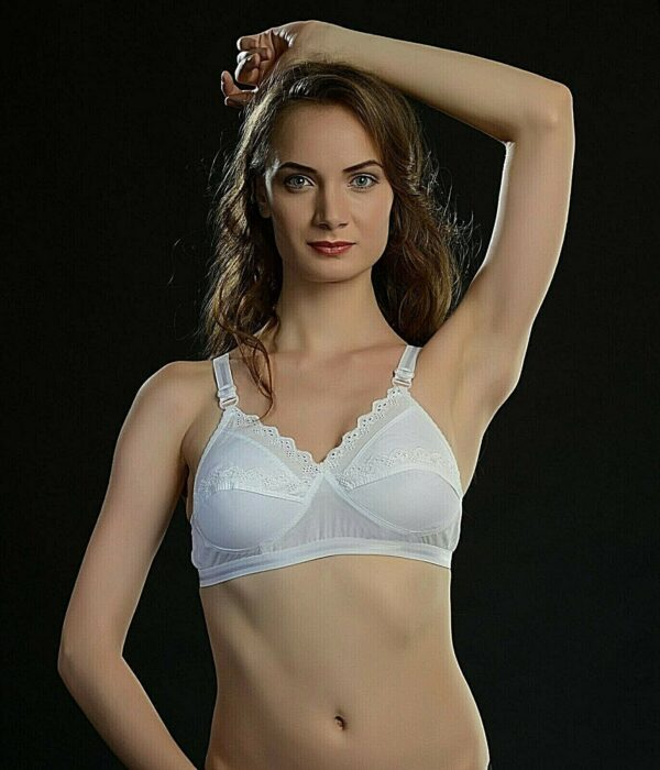 ANJALI Cotton Bra Women's Wire Free Unpadded Lifts and Shape Bra Cup Size Cup B