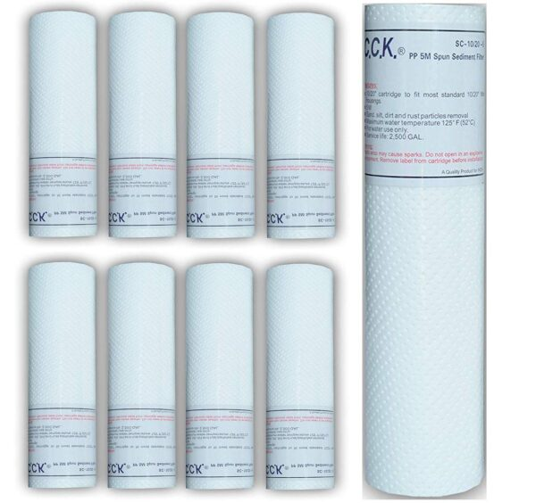 CCK Spun Sediment Filter 10 inch 5 Micron Replacement Water Filter Cartridge Made in Taiwan prefilter cartridge for All Ro (2)