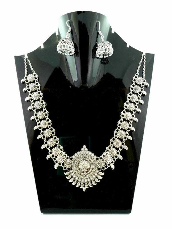 Afghani Indian Oxidized Necklace and Earring
