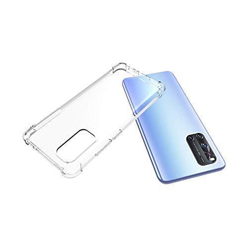 Vstec OO LALA JI Drop Tested Shock Proof Slim Mobile Cover (Soft & Flexible Shockproof Back Case with Cushioned Edges) for Vivo V19 (Transparent)
