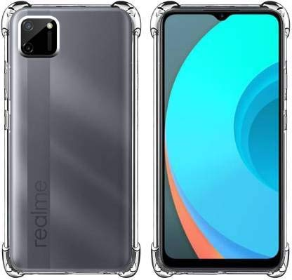 Vstec OO LALA JI Drop Tested Shock Proof Slim Mobile Cover (Soft & Flexible Shockproof Back Case with Cushioned Edges) for Realme C11 (Transparent)