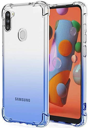 Vstec OO LALA JI Drop Tested Shock Proof Slim Mobile Cover (Soft & Flexible Shockproof Back Case with Cushioned Edges) for Samsung Galaxy M11 (Transparent)