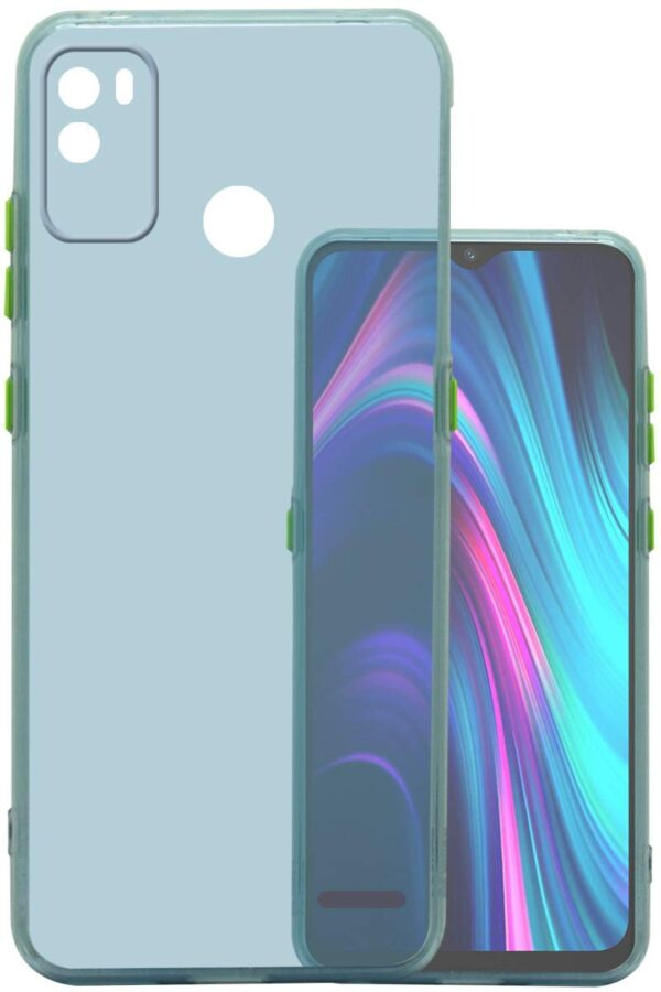 Silicone Smoke Back Cover Case for Micromax in 1b - Ice Blue