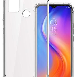 Vstec OO LALA JI Drop Tested Shock Proof Slim Mobile Cover (Soft & Flexible Shockproof Back Case with Cushioned Edges) for Tecno Spark 6 Air (Transparent)