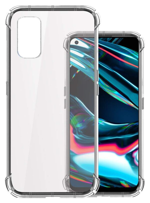 Vstec OO LALA JI Drop Tested Shock Proof Slim Mobile Cover (Soft & Flexible Shockproof Back Case with Cushioned Edges) for Realme 7 pro (Transparent)
