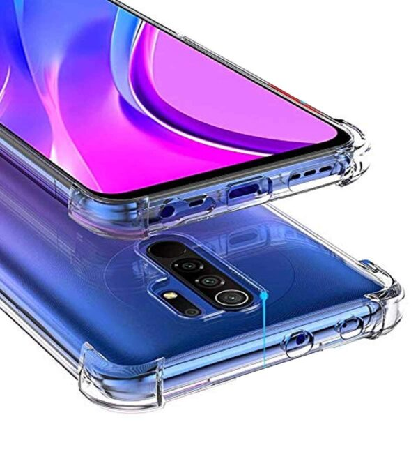 Vstec OO LALA JI Drop Tested Shock Proof Slim Mobile Cover (Soft & Flexible Shockproof Back Case with Cushioned Edges) for Redmi 9 Prime/Poco M2 (Transparent)