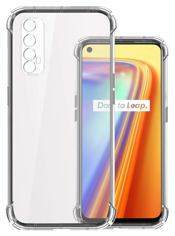 Vstec OO LALA JI Drop Tested Shock Proof Slim Mobile Cover (Soft & Flexible Shockproof Back Case with Cushioned Edges) for Realme 7 / Narzo 20 Pro (Transparent)