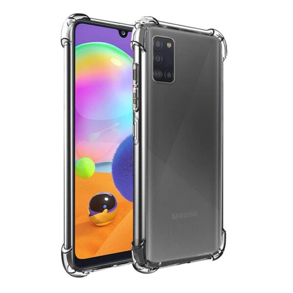 Vstec OO LALA JI Drop Tested Shock Proof Slim Mobile Cover (Soft & Flexible Shockproof Back Case with Cushioned Edges) for Samsung Galaxy A31 (Transparent)