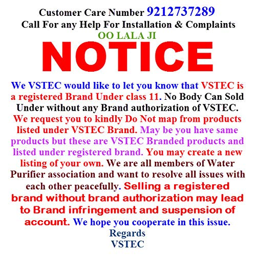 Vstec OO LALA JI for Kent RO Pipe Inlet Valve and SS Coupling RO Main LINE Input Steel Inlet Valve Connector RO Water Filter Purifier 3/8 Size (DVSet) - 1 Pcs