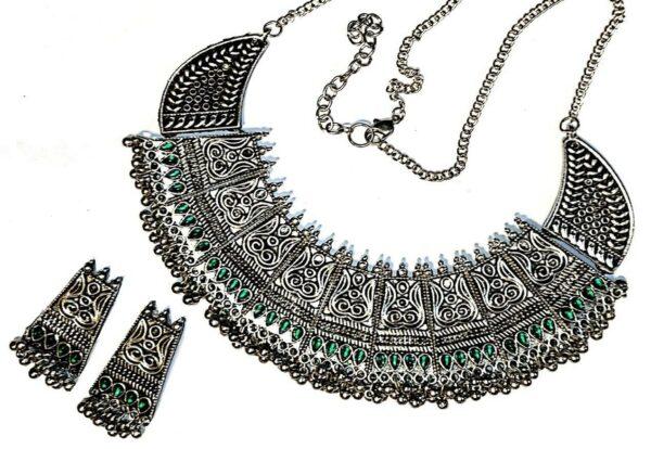 Afghani Choker Kuchi Bib Necklace Tribal Bird Choker Bohemian Kuchi Bollywood...