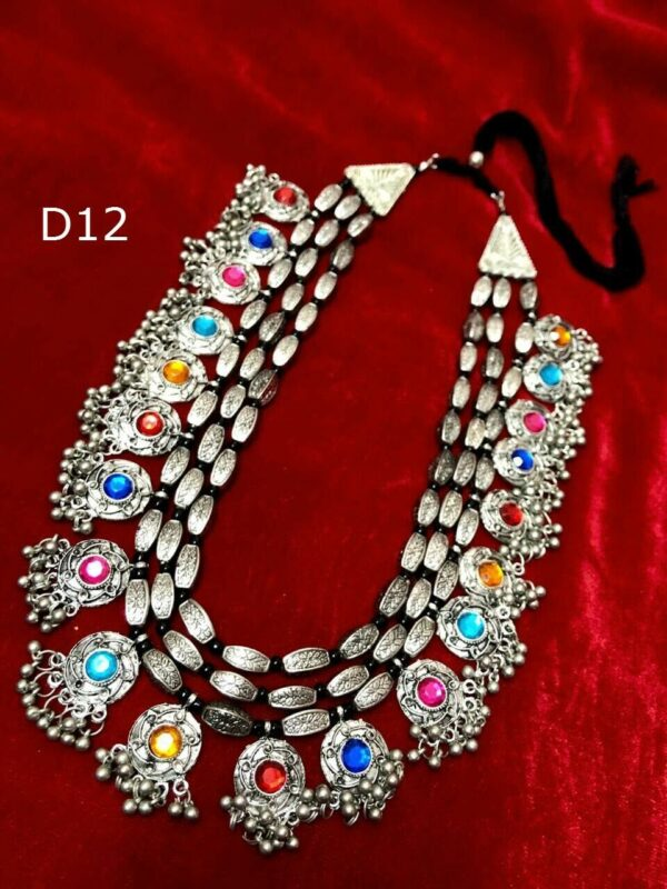 Oxidized Necklace Afghani Jewelry Tribal Necklace Indian Neck lace