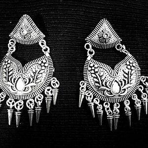 Bollywood Traditional Boho Tribal Indian Afgani jewelry Silver Plated Oxidized