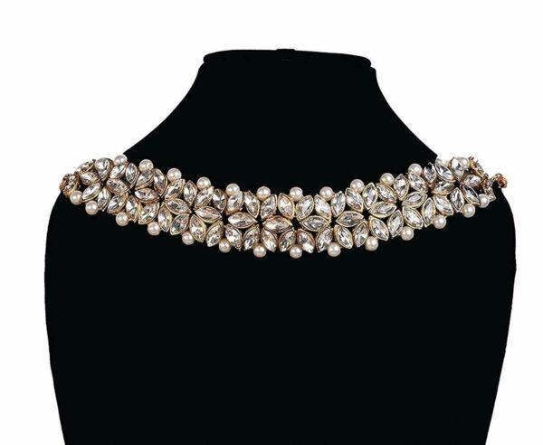 Indian Bollywood Long Kundan Necklace White Fashion Jewelry Party Wedding Bridal