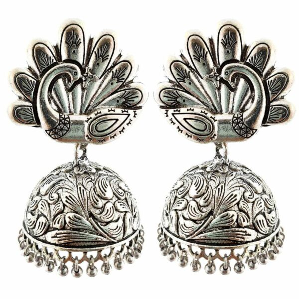 Bollywood Oxidized Silver Plated Handmade jhumka jhumki For women Ethnic Earr...