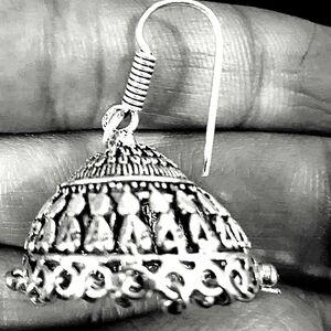 Cute Boho Indian Jhumki German Silver Plated Oxidized Bollywood Traditional