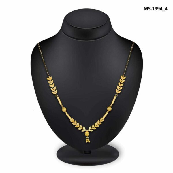 Leaf Style Boho Women Chain Necklace Black Golden Jewelry Gift Light Weight