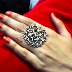 New Bollywood Trending Oxidized Silver Plated Adjustable Ring Jewelry For Women