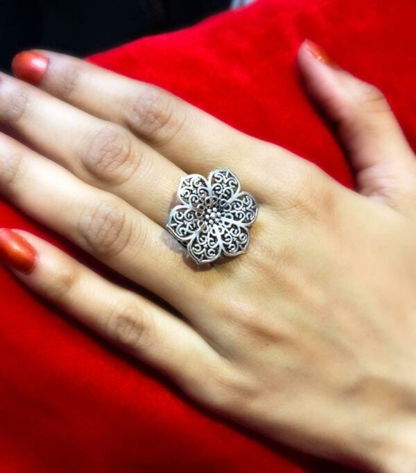 Everyone Loves Oxidized German Silver Plated Adjustable Ring Buy it Now