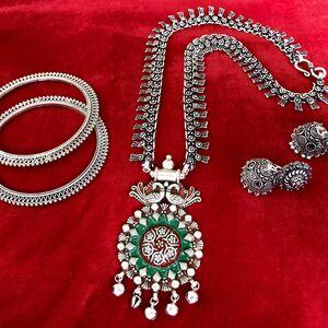 necklace earring bangle jewelry set Turkish gypsy bohemian tribal