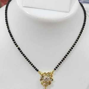 With Pendant Boho Women Chain Necklace Black Golden Jewelry Gift Light Weight
