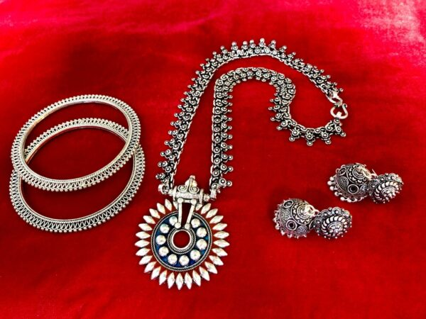 necklace earring bangle jewelry set bohemian tribal Turkish gypsy