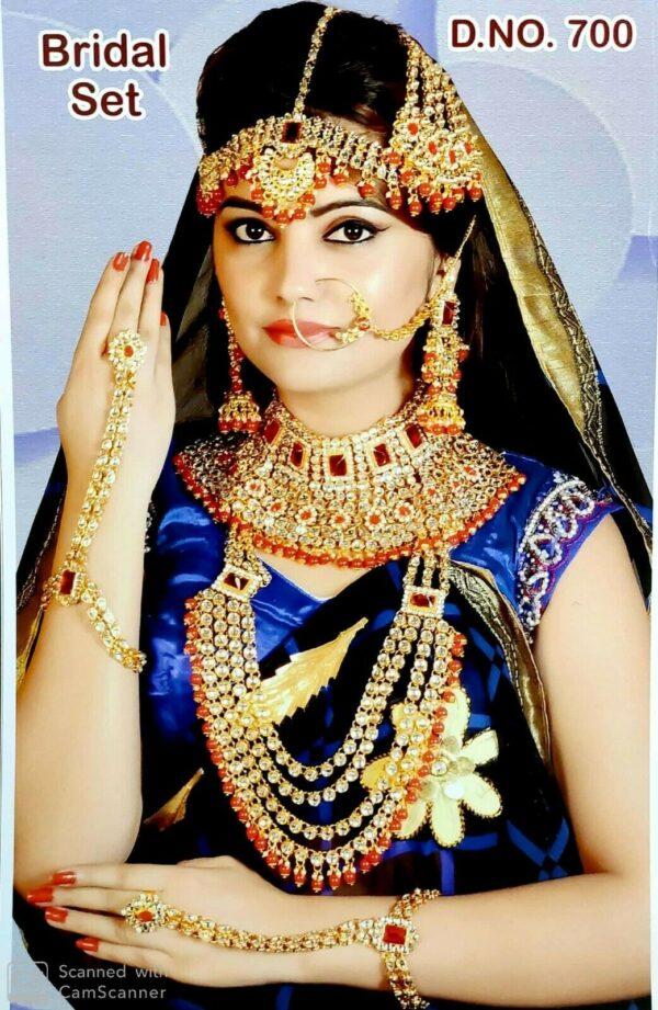 Ethnic Indian Bollywood Rani Haar Choker Bridal Gold Plated Jewelry Set Rani