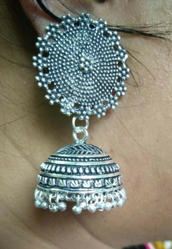 Bollywood Ethnic Traditional Indian Very Cute Silver Plated Oxidized Earrings