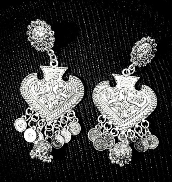 Indian Lord Ganesha German Silver Plated Oxidized Bollywood Traditional Earrings