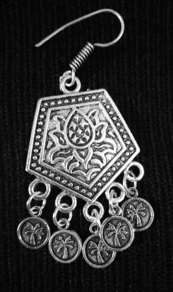 Indian Flower Tree Style Silver Plated Oxidized Earrings Bollywood Traditional