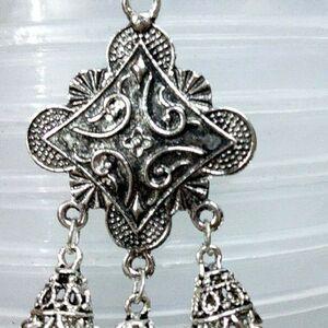 Indian Handmade Women Rajasthani Peacock Jhumka Jhumki Silver Oxidized Earrings