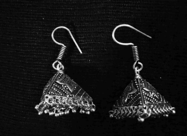 Indian Jhumki Mugal Jhumka German Silver Plated Oxidized Bollywood Traditional