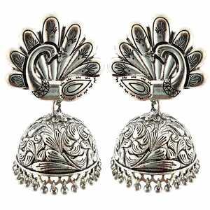 Bollywood Oxidized Silver Plated Handmade jhumka jhumki For women Ethnic Earr...