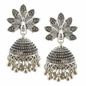 Bollywood Oxidized Silver Plated Handmade jhumka jhumki women Ethnic Earrings