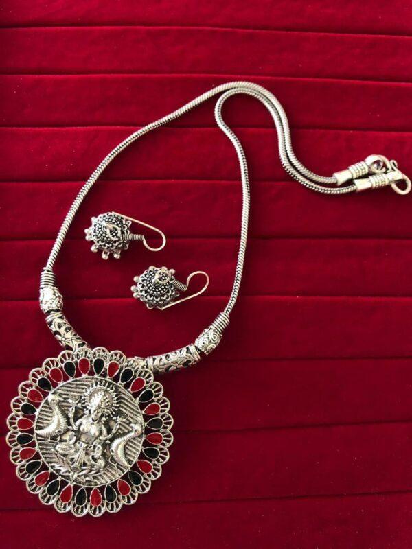 Oxidized Kolhapuri Choker Indian Necklace Jewelry for Girls and Women