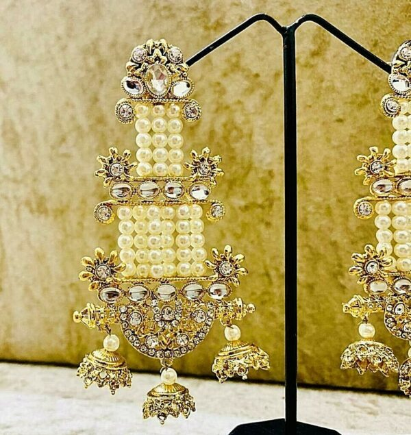 Indian Tribal Traditional Bollywood Oxidized Mugal Jhumka Jhumki Earrings