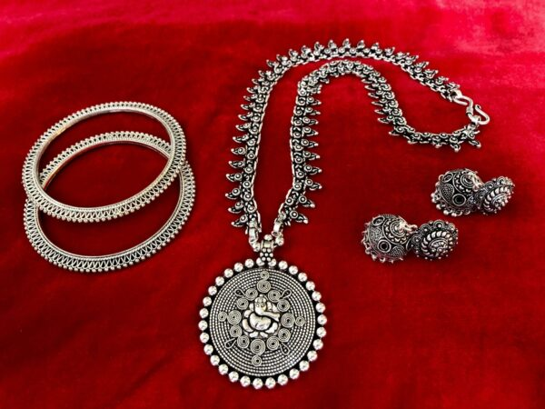 turkish gypsy tribal bohemian necklace earring bangle jewlery set