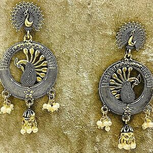 Indian Traditional Bollywood Oxidized Mugal Jhumka Jhumki Earrings Gift for Her