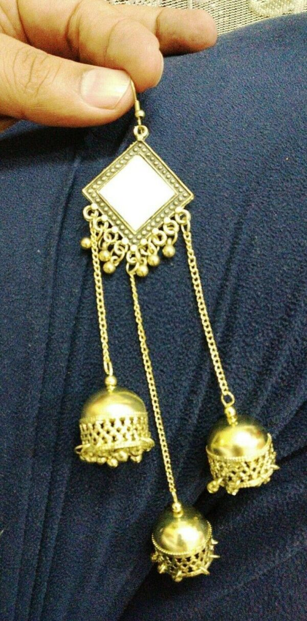 Earring Jhumki Drop/Dangle German Silver Plated Oxidized Bollywood Traditional