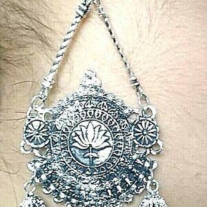 oxidized Indian Bollywood Gold Silver Plated Earring Jumka Jumki Long Drop