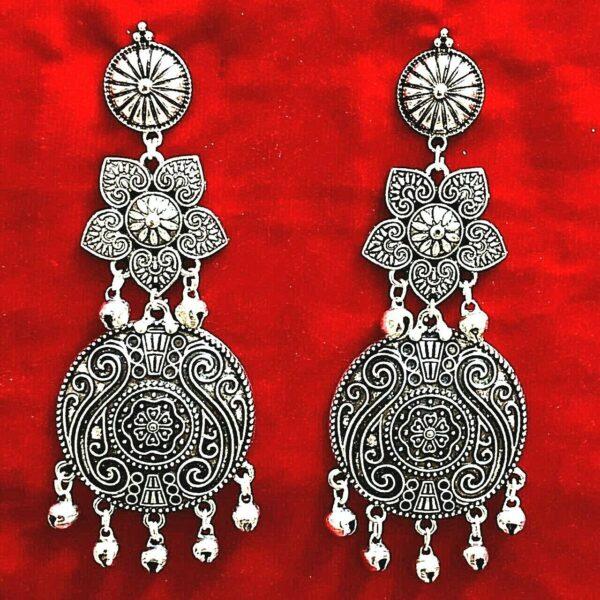Bollywood Oxidized Silver Plated Handmade jhumka jhumki flower Earring Best Gift