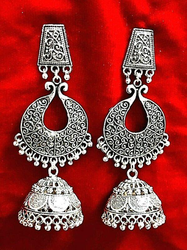 Indian Earrings Jewellery Gold Plated Jhumka Jhumki Dangle Pakistani oxidize