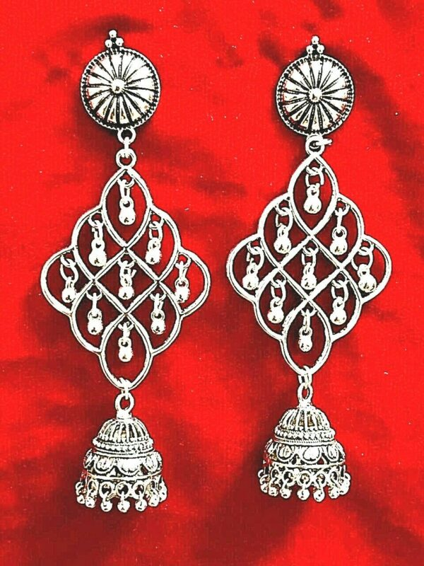 Indian Antique Silver Plated Oxidized Choker Jewelry earrings Best Gift Girl
