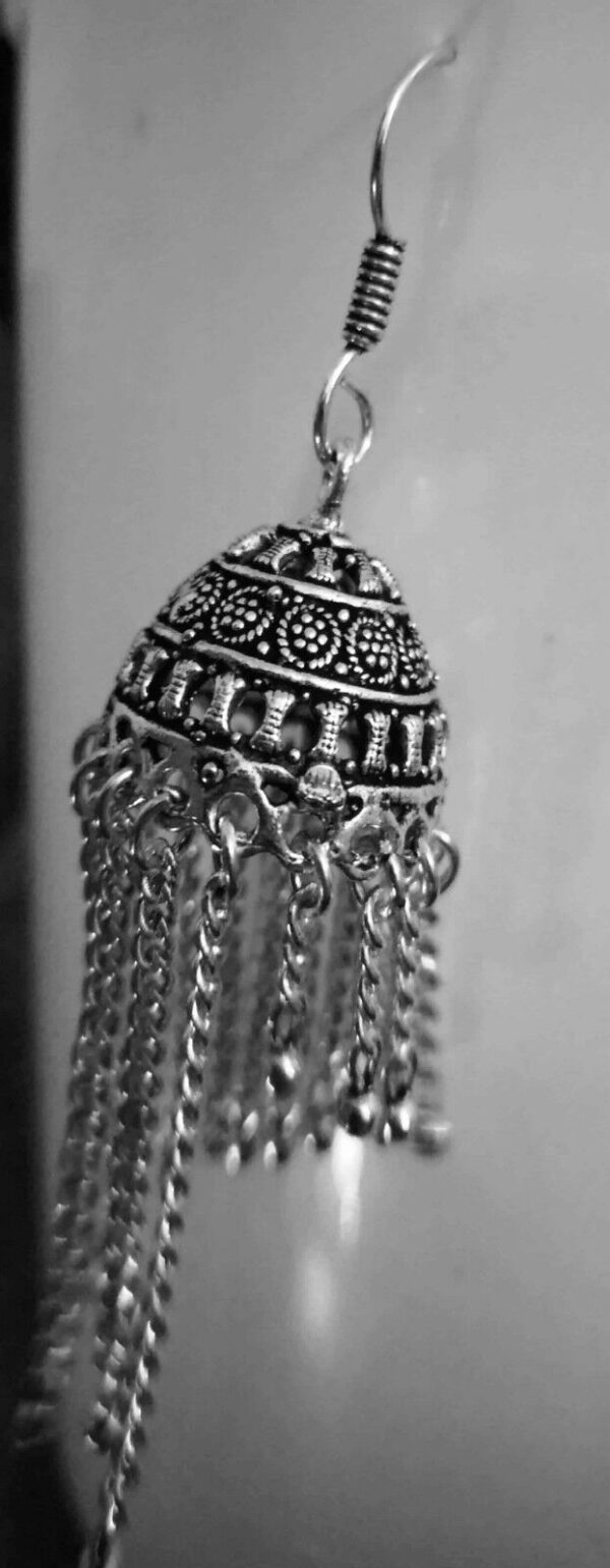 Indian Earrings Afgani Tribal Silver Plated Oxidized Bollywood Traditional