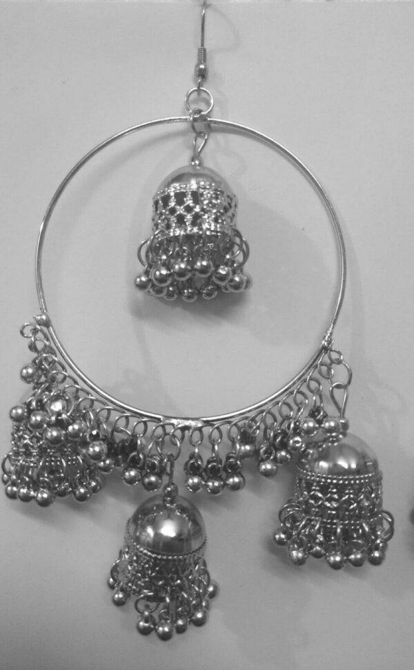 Indian Kashmir Antique Silver Plated Oxidized Jhumki Mughal Jhumka Bollywood