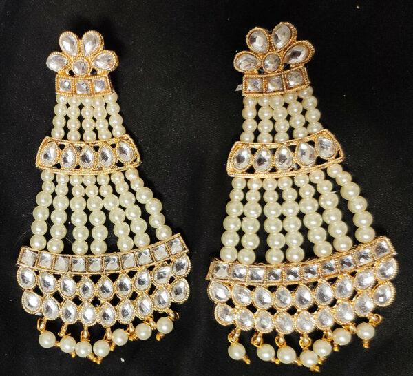 Golden Oxidized Traditional Indian Jewelry Bollywood Ethnic Wedding Bridal Ha...