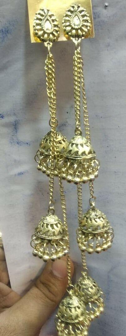 Indian Oxidized Bollywood Long Traditional Kashmiri Jhumki Mugal Jhumka E1