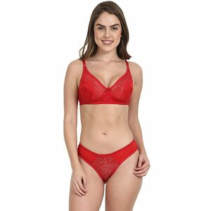 Lycra Bra Panty Set Full Coverage No Pad No Wire Very Light Weight Soft Cup Bra