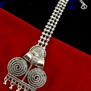 Forehead Tikka Oxidized Indian Maang Tikka Metal Silver Plated Bollywood